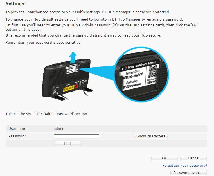 Bt Home Hub  Router Settings